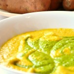 Raw Carrot and Sweet Potato soup with Spinach- Green Thickies