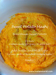 Sweet Potato Mash Loula Natural