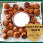 Sweet Potato Falafel with Garlic Kefir Dip- Loula Natural