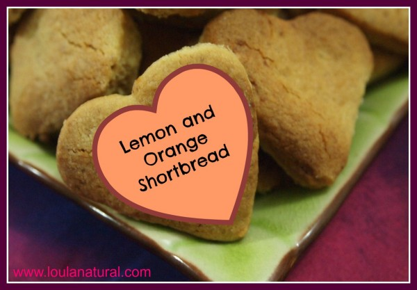 Lemon and Orange Shortbread Loula Natural