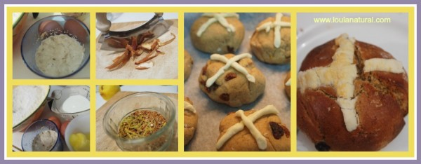 Hot Cross bun Collage Loula natural