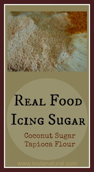 Real Food Icing Sugar Loula Natural Pin