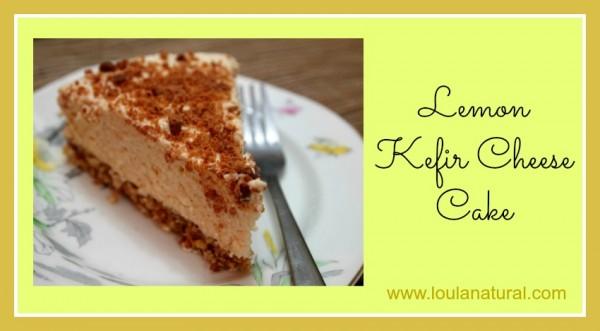 Lemon Kefir Cheese Cake Loula Natural1