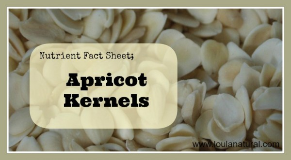 Nutrient Fact Sheet Apricot Kernels Loula Natural