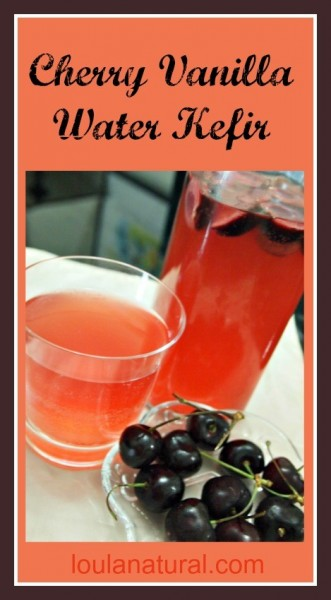 Cherry and Vanilla Water Kefir  Loula Natural pin