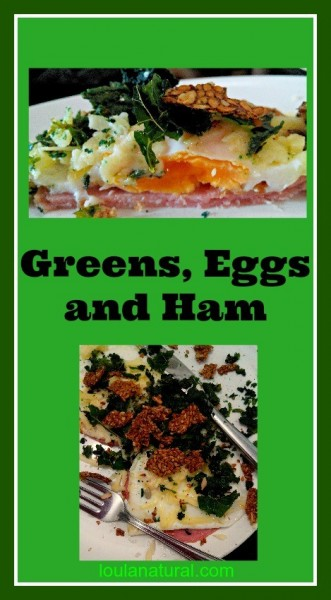 Greens, eggs and ham Loula Natural Pin