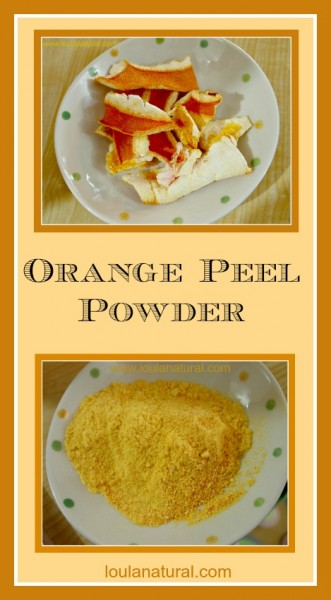 Orange Peel Powder Loula Natural Pin