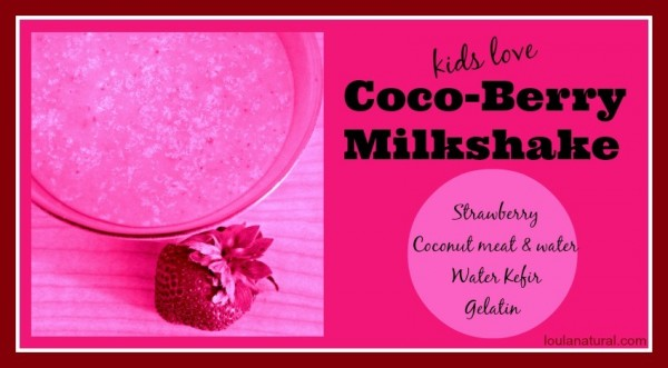 cocoberry milkshake Loula Natural