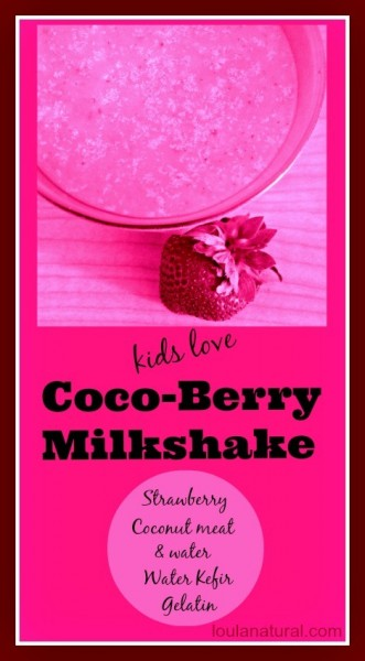 cocoberry milkshake Loula Natural Pin