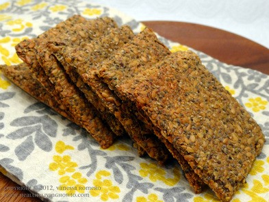 Chia Flax Crackers Healthy Living How To