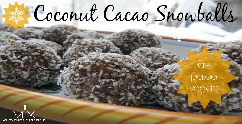 Coconut Cacao Snowballs Mix Wellness